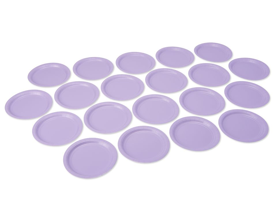 lavender dinner round paper plate 20 ct