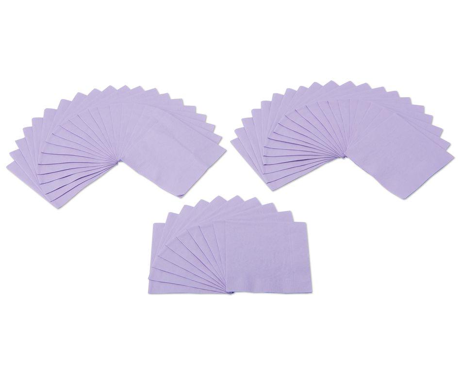 lavender beverage napkins 50 ct