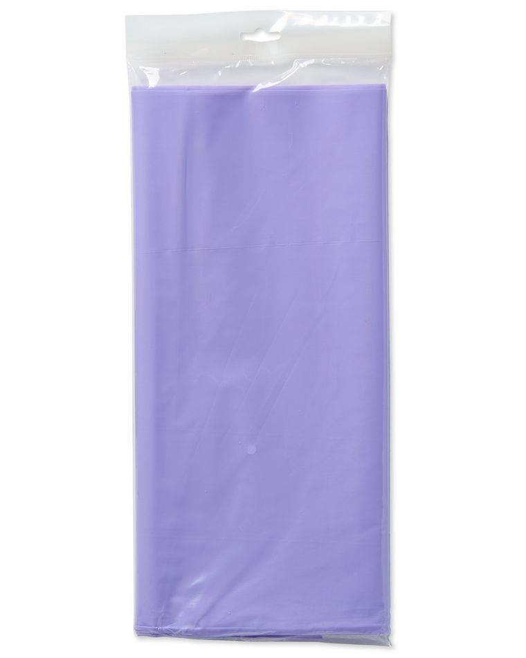 lavender plastic table cover 54in x 108in
