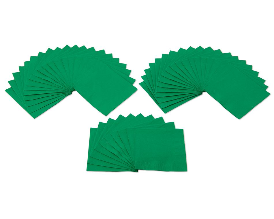 festive green beverage napkins 50 ct