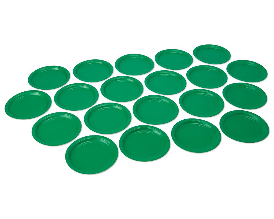 festive green dinner round paper plate 20 ct