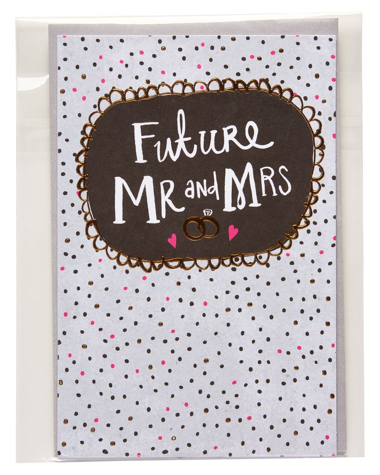 mr. and mrs. wedding card