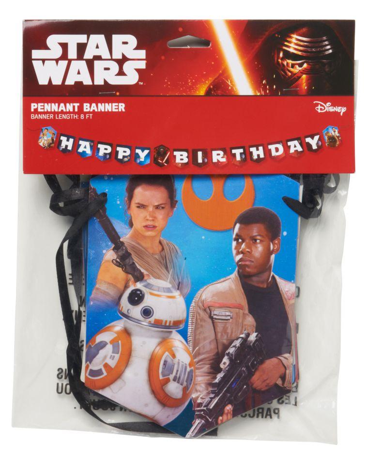 star wars: the force awakens birthday banner