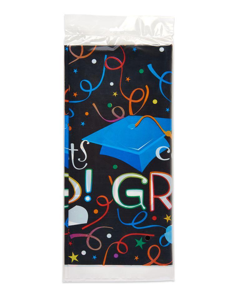 congrats grad plastic table cover 54 in x 84 in