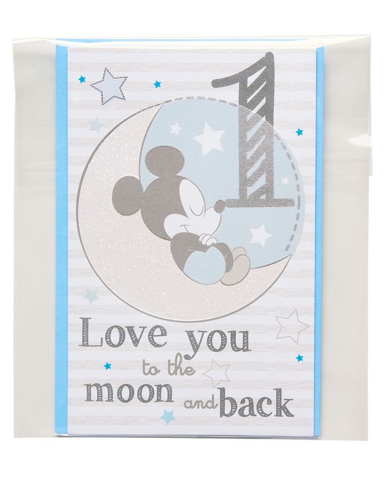 mickey mouse 1st birthday card