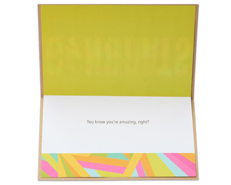 you're amazing congratulations card