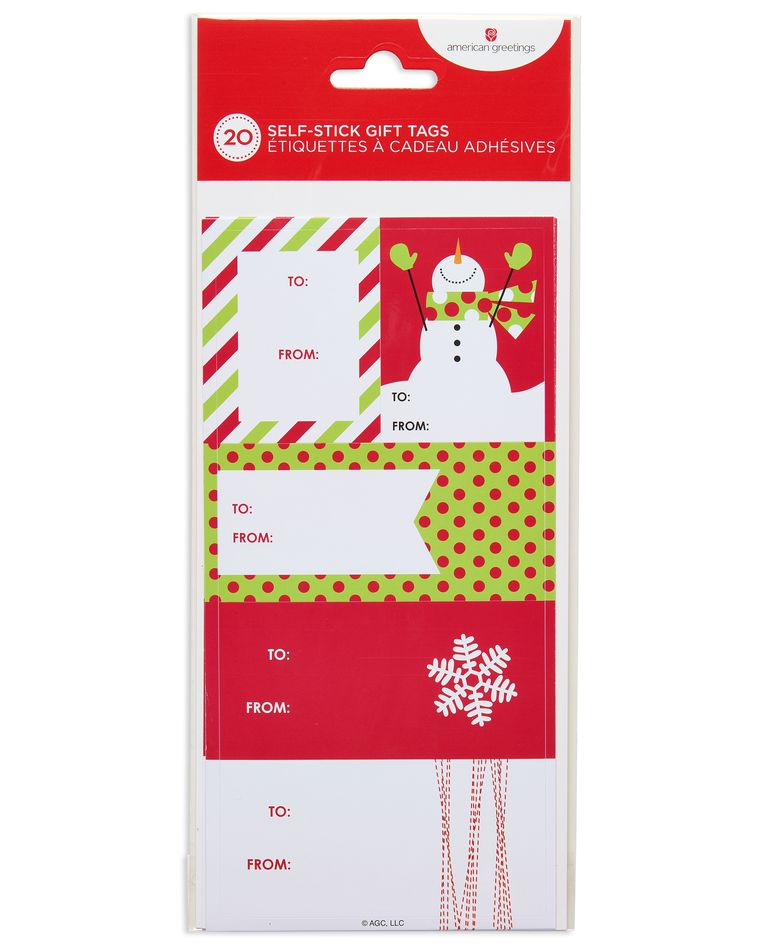 bright and festive christmas gift tags stickers