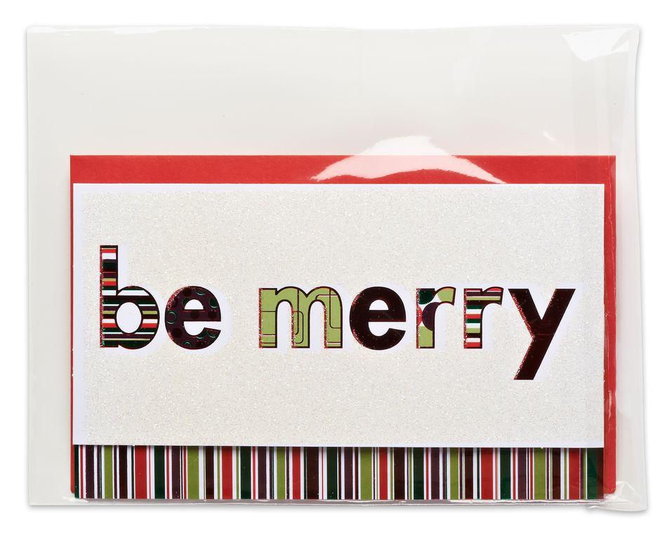 merry money holder christmas card