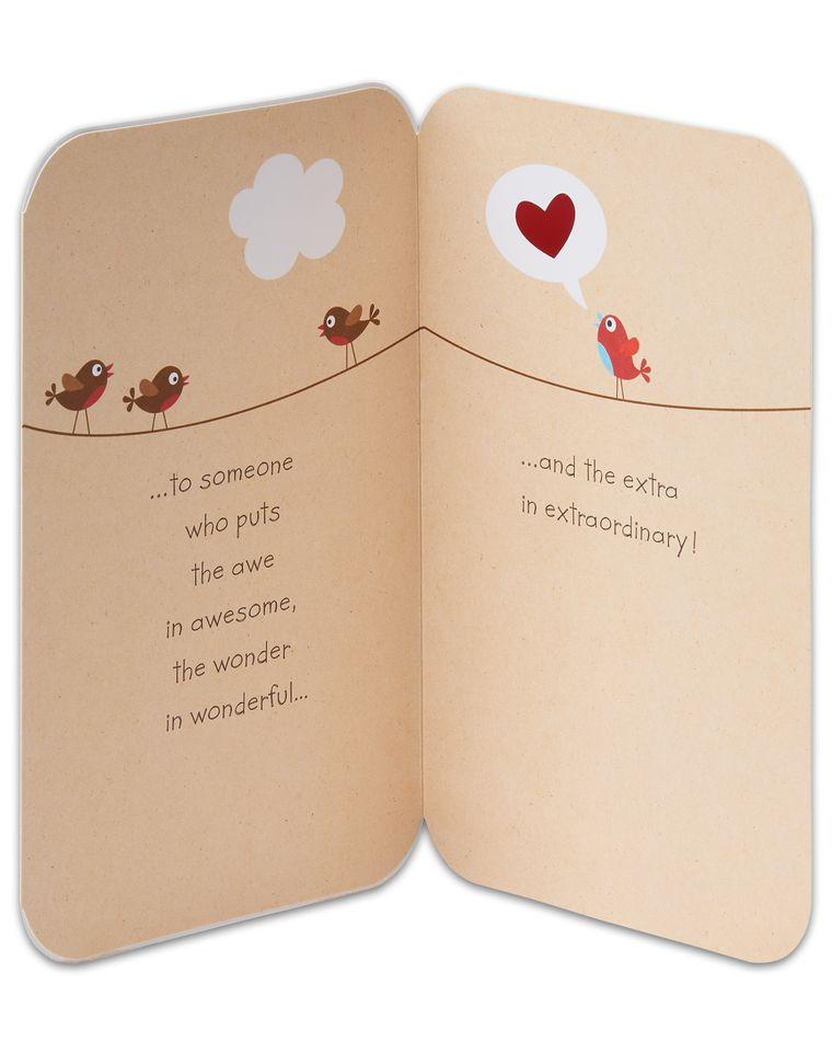 birds valentine's day card