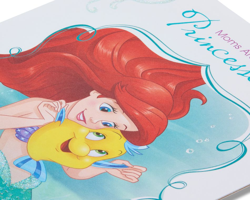 disney princesses mother's day card