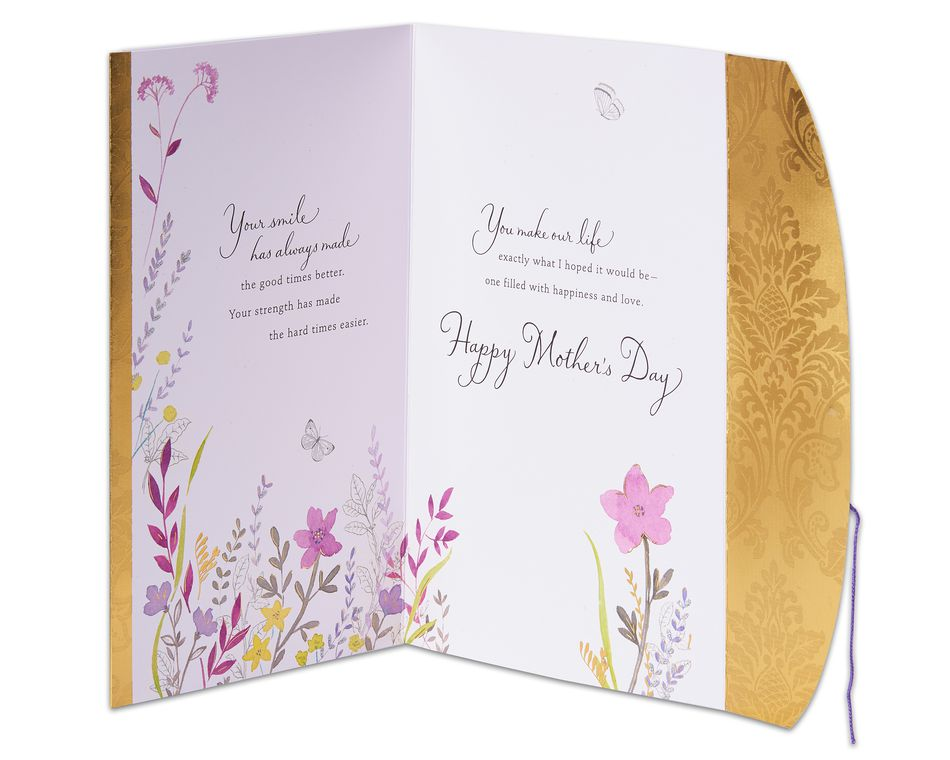 floral mother's day card for wife