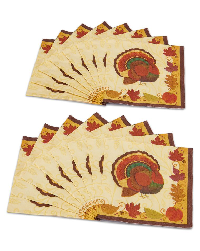 thanksgiving holiday beverage napkins, 16 ct.