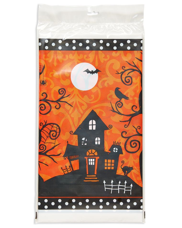 Frightfully Fancy Halloween Plastic Table Cover 54 X 102