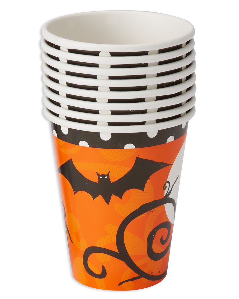 frightfully fancy 9-oz. paper cups, 8 ct.