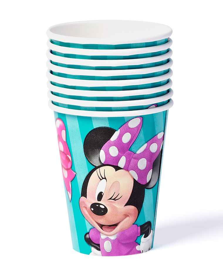minnie mouse bow-tique paper cups 8 ct