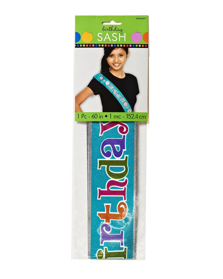 dots & stripes birthday sash