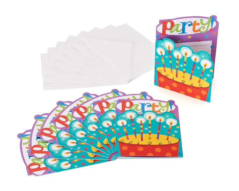 dots & stripes invites 8 ct