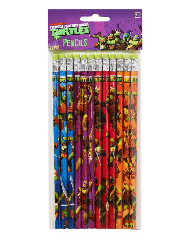 teenage mutant ninja turtles pencils 12 ct