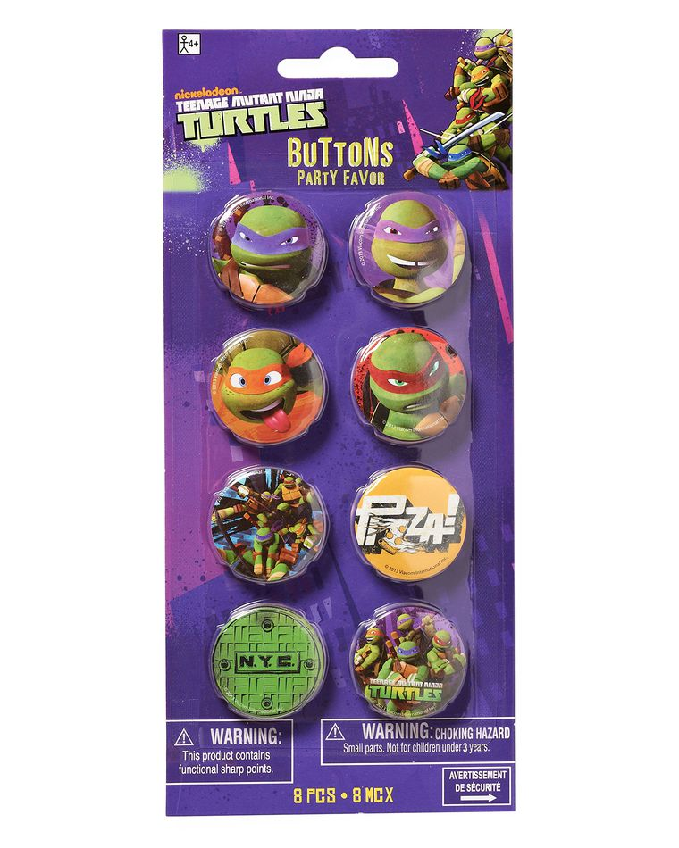 teenage mutant ninja turtles buttons 8 ct