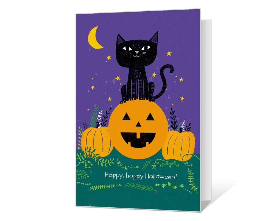 Universal image intended for printable halloween card
