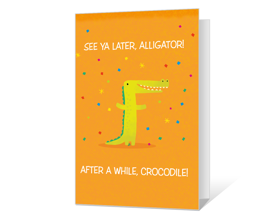 image relating to See You Later Alligator Poem Printable named Skip By yourself By now Printable - American Greetings