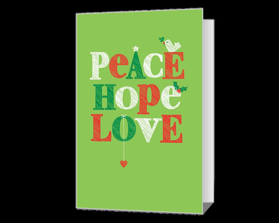 Peace Hope Love Printable
