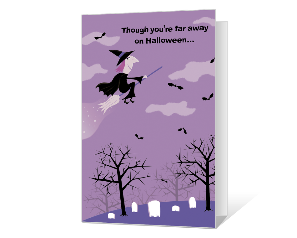 Across the Miles on Halloween Printable