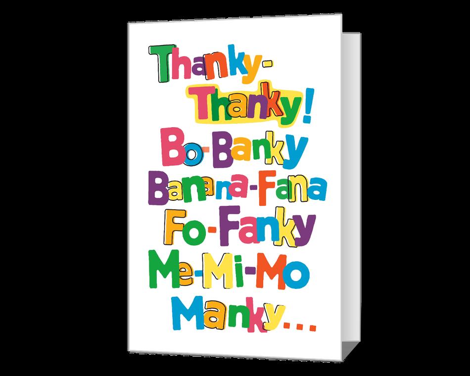 Thanky-Thanky Printable