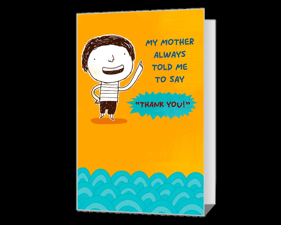 Saying Thank You Printable