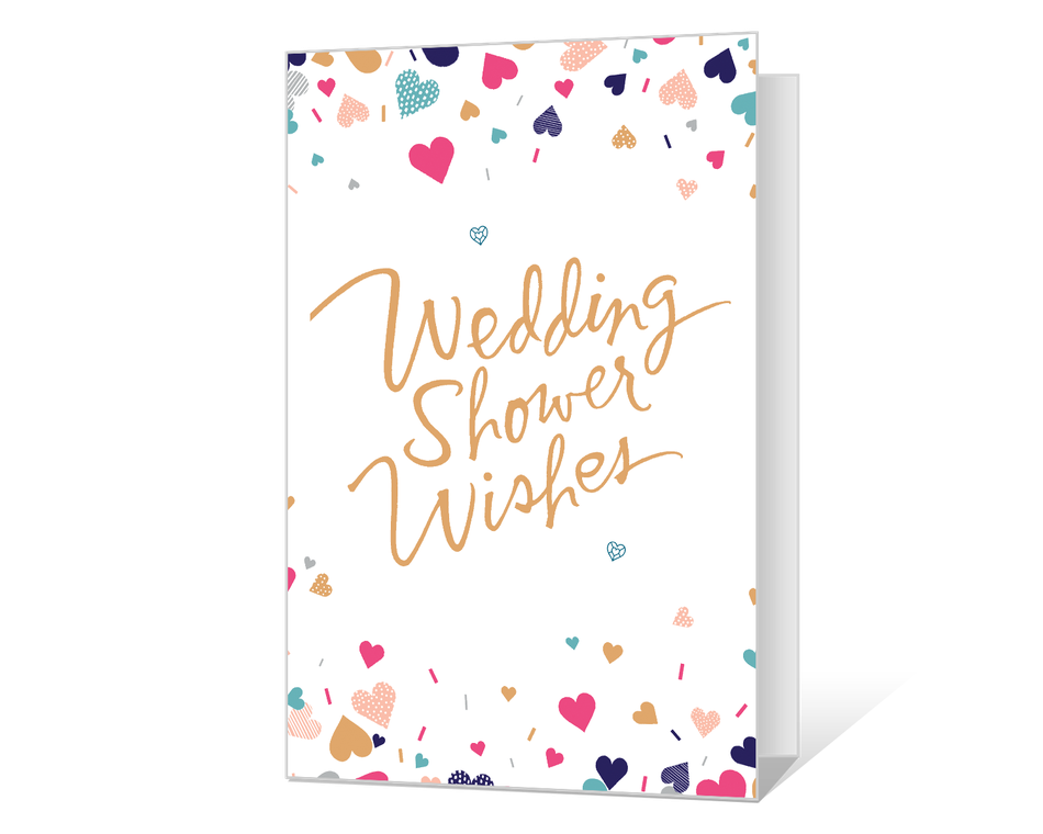 Bright image within free printable bridal shower cards