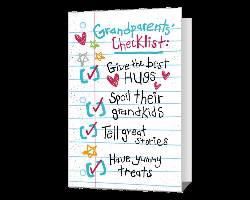 Grandparents Checklist Printable