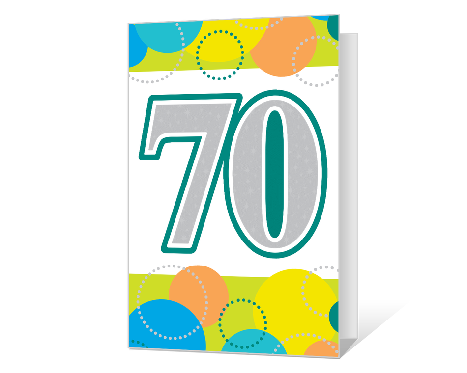 70th Birthday Printable