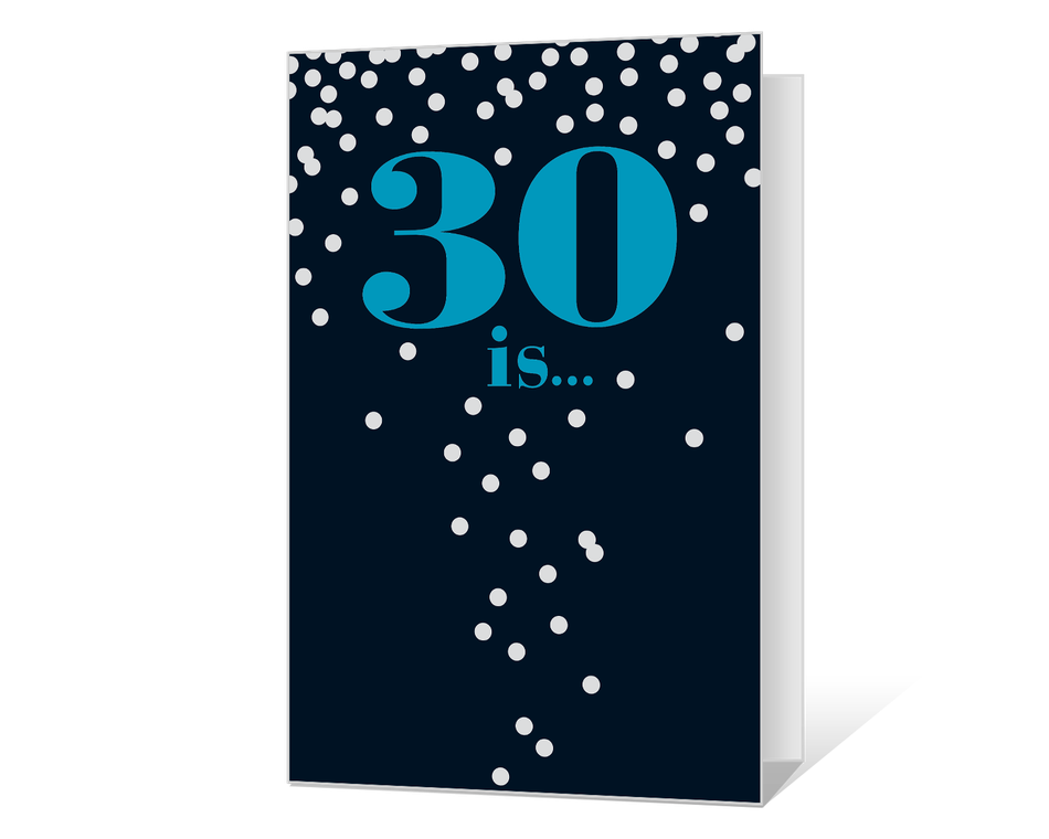 30th Birthday Printable