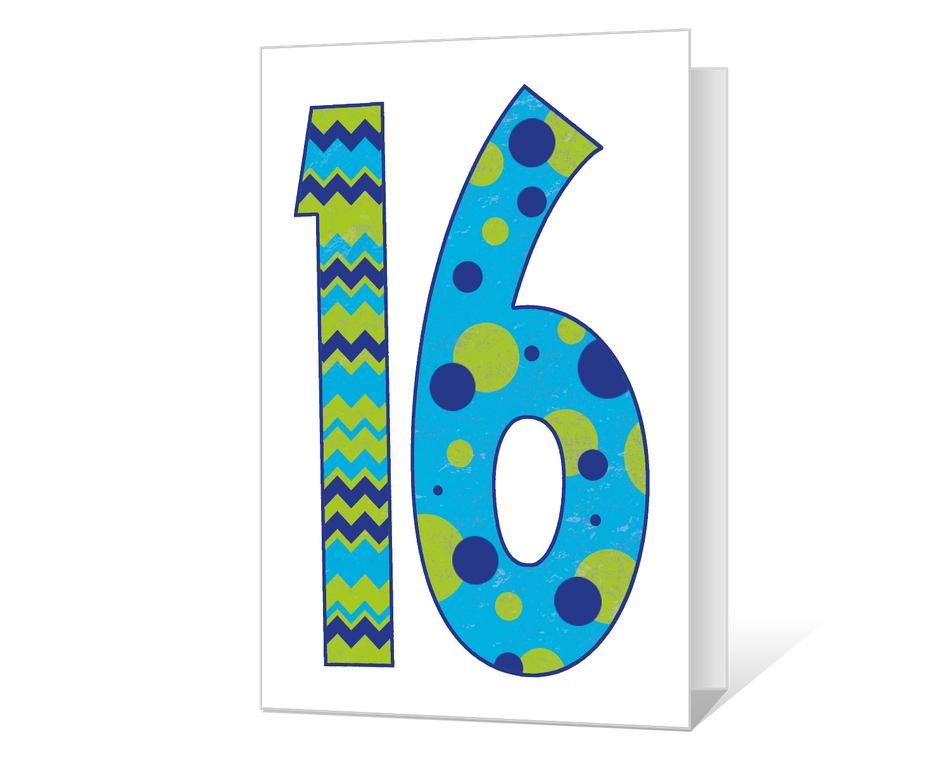 16th Birthday Printable