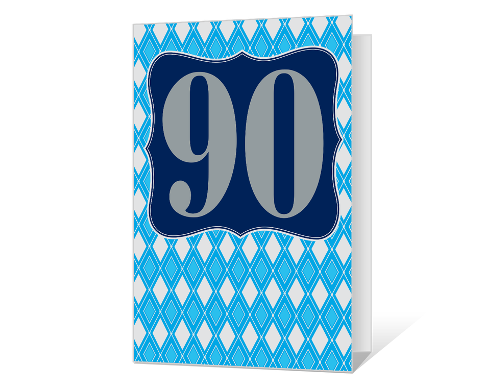 90th Birthday Printable
