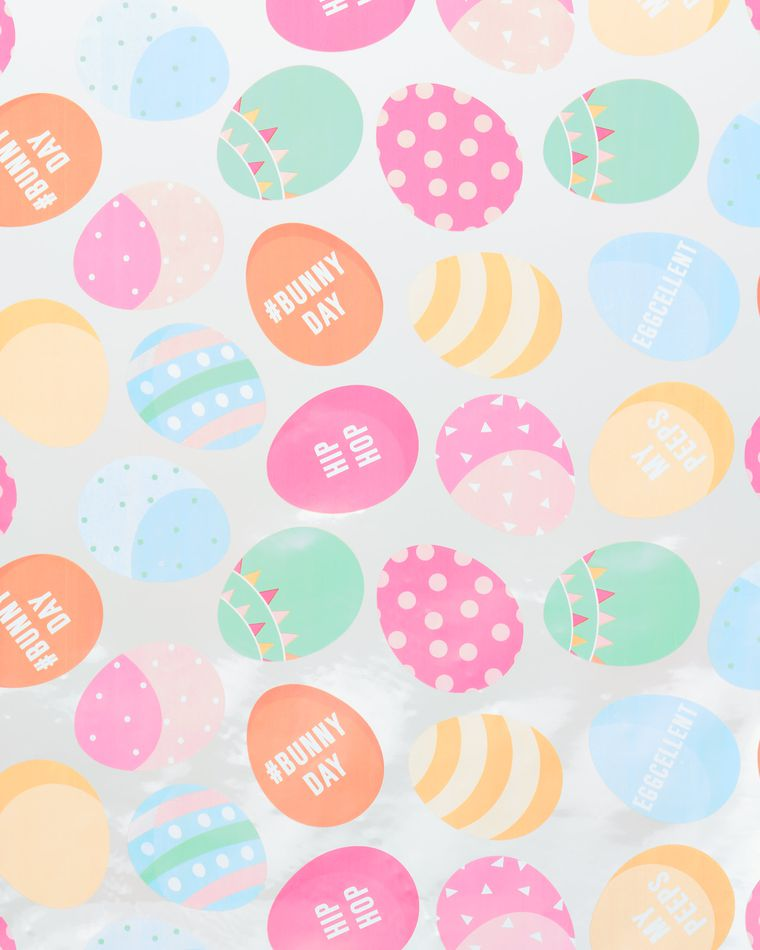 Bunny Day Cellophane Wrapping Paper, 2.5 ft x 3.33 yd, 25 Sq. Ft. Total