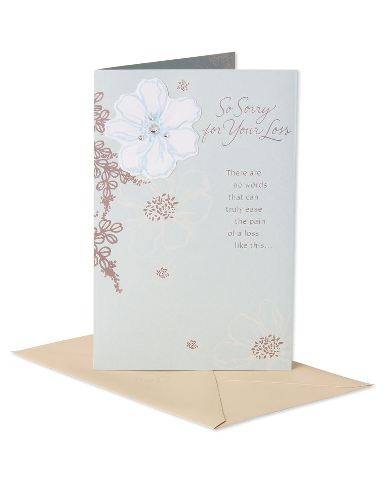 Caring Thoughts Sympathy Card