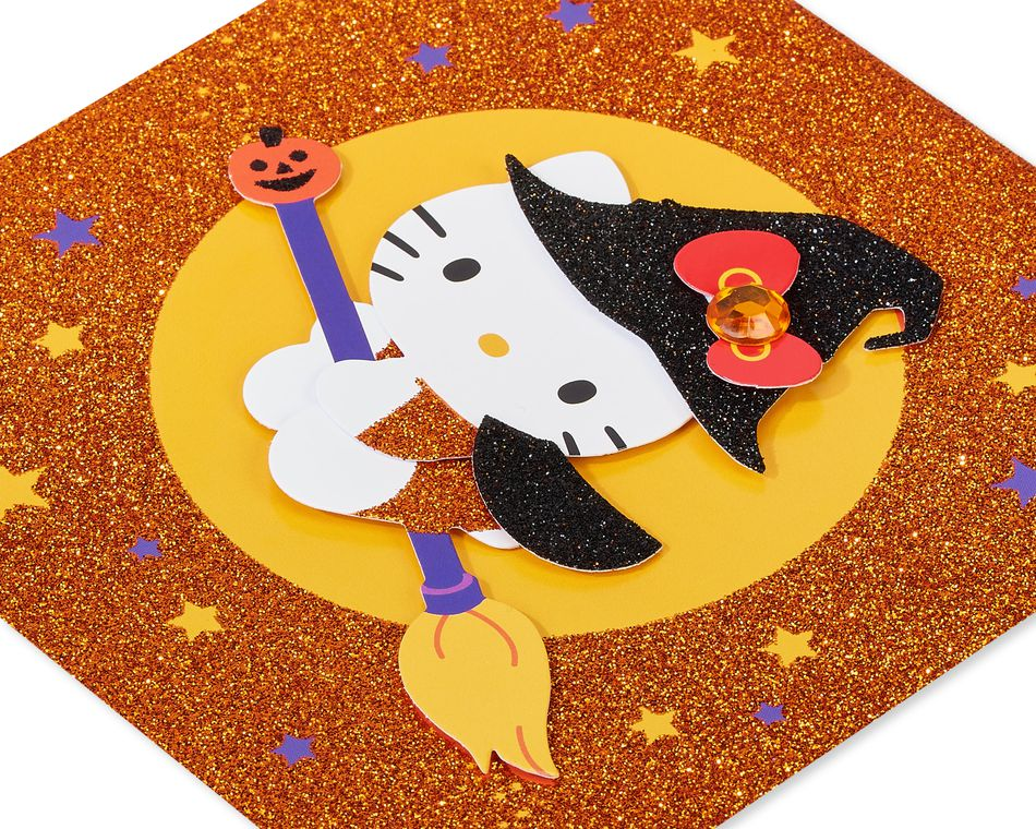 Hello Kitty Witch Halloween Greeting Card