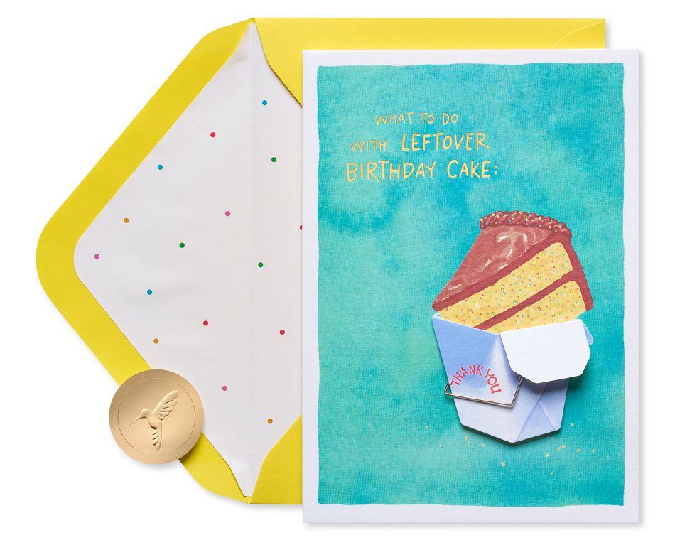 Leftover Cake Birthday Greeting Card