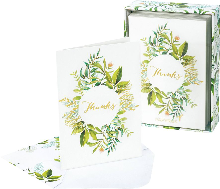 Simple Leaf Boxed Cards and Envelopes, 14-Count