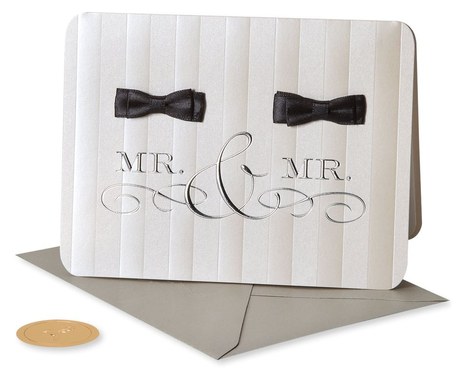Mr. And Mr. Wedding Greeting Card
