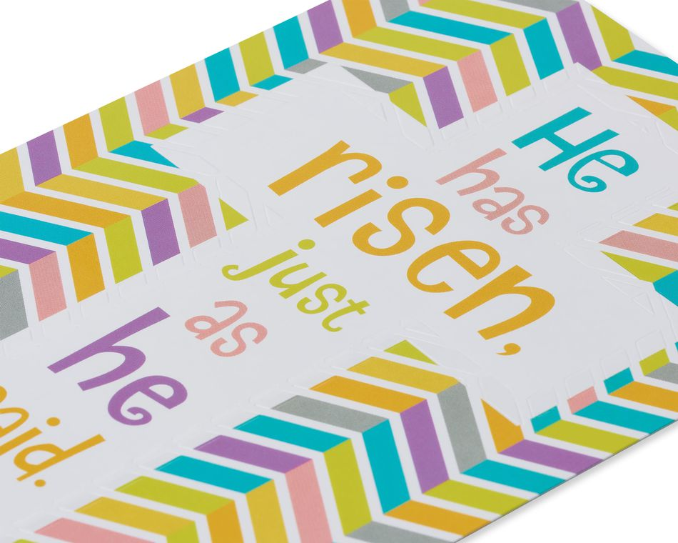 Religious Risen Easter Card, 6-Count