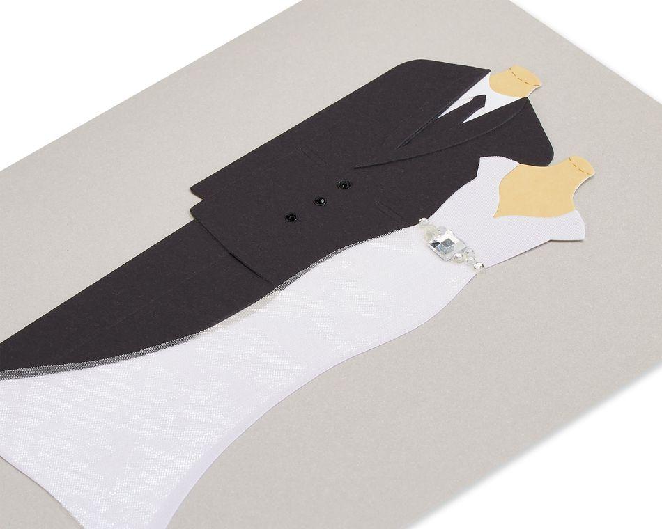 Handmade Bride And Groom Wedding Greeting Card