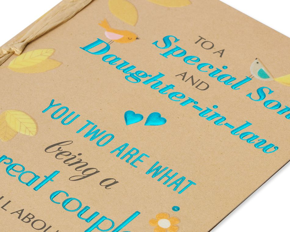 Great Couple Anniversary Card for Son and Daughter-in-Law