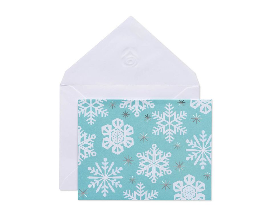 Snowflake Note Cards and Envelopes, 10-Count