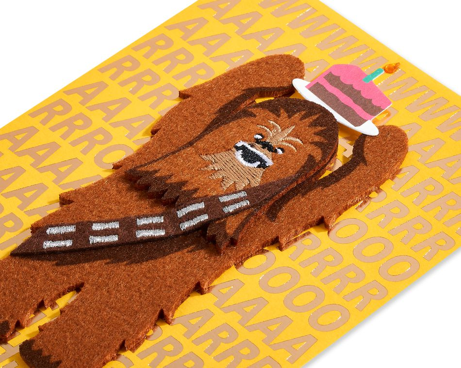 Chewie Birthday Greeting Card