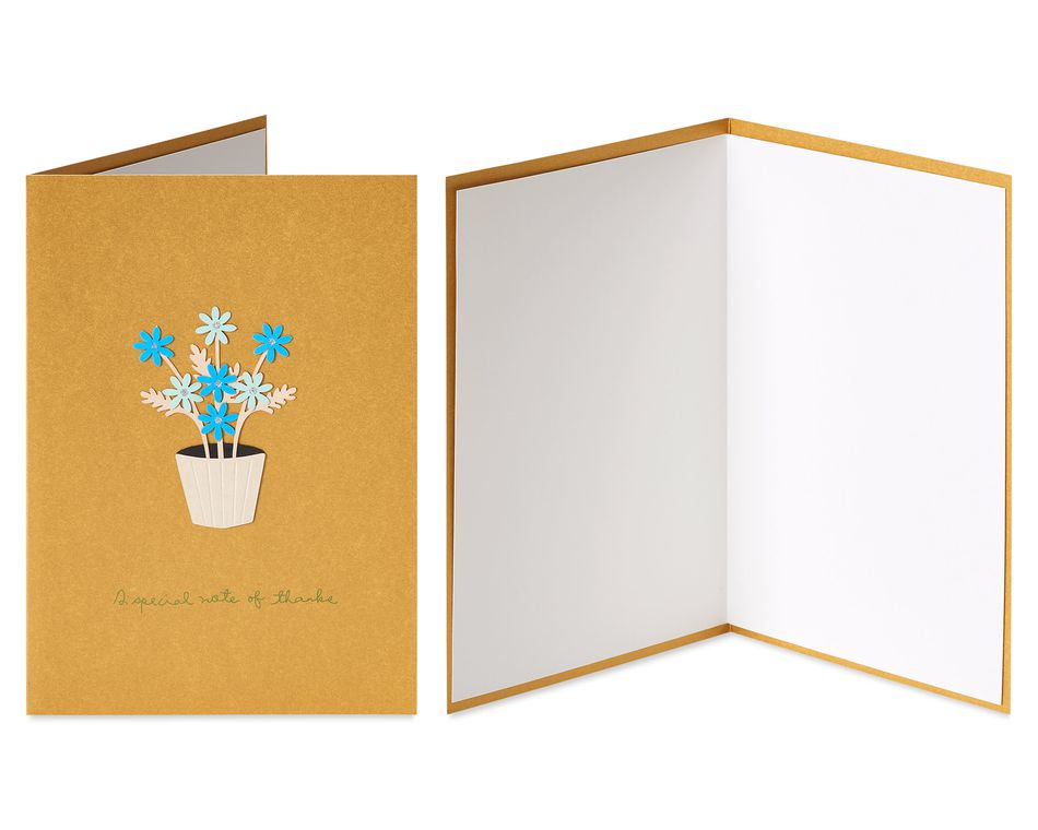 Frenchie Dog and Daisies Thank You Greeting Card Bundle, 2-Count