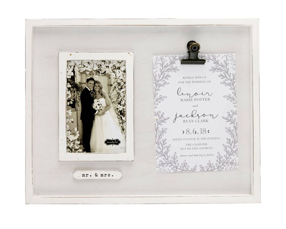 Mud Pie Invitation Clip Frame