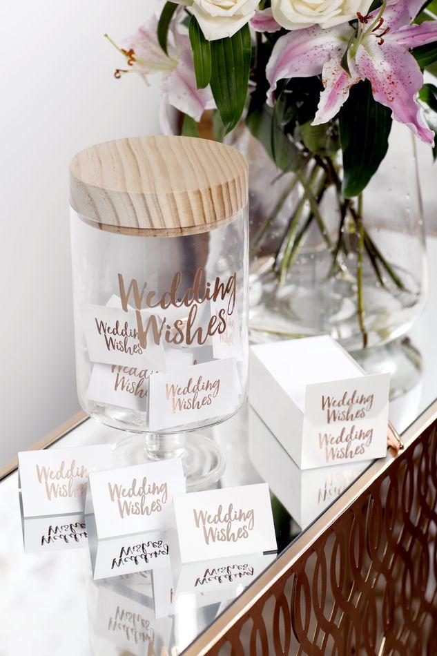 Wedding Wishes Glass Jar