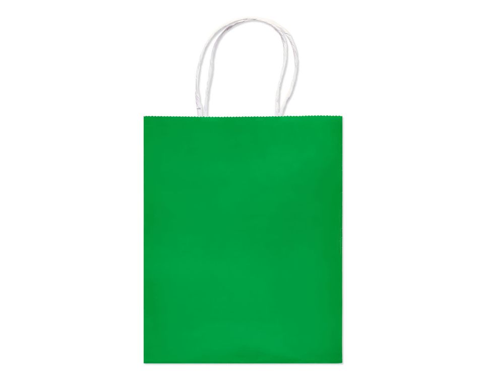 Solid Green Small Gift Bag
